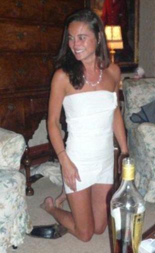Pippa Middleton w sukience z papieru toaletowego (FOTO)