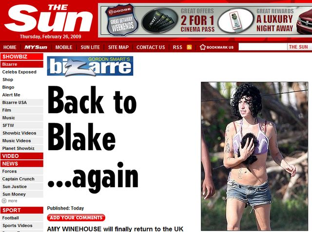 Amy Winehouse wraca do Blake'a