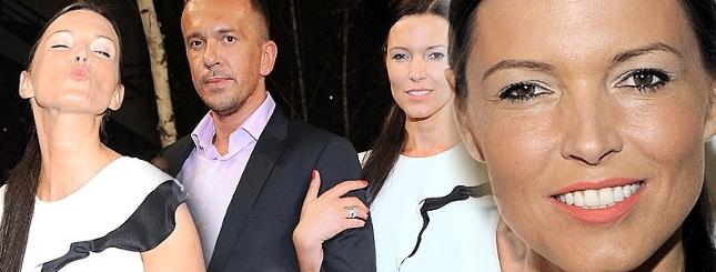 Ilona Felicjańska z mężczyzną na pokazie mody (FOTO)