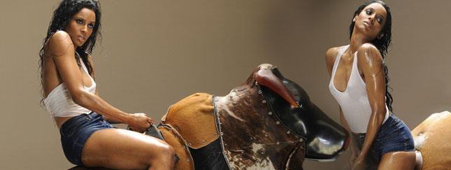 Seksowna Ciara ujeżdża byczka... (FOTO)