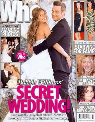 Robbie Williams do ślubu szedł z psami