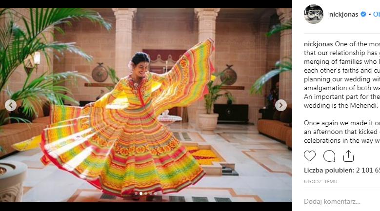 Nick i Priyanka WZIĘLI ŚLUB! Tradycyjna suknia ślubna Panny Młodej (ZDJĘCIA)