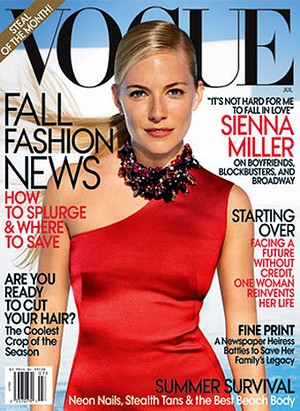 Sienna Miller wylądowała w lipcowym Vogue (FOTO)