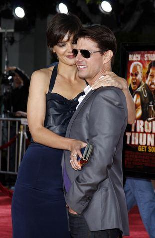 Tom Cruise całuje Katie Holmes