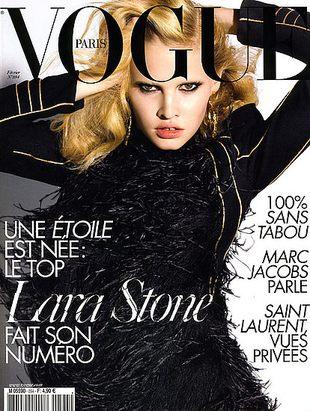 Ostra sesja Lary Stone w Vogue