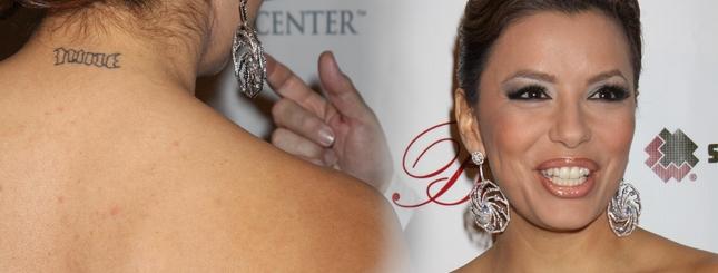 Eva Longoria ma plecy upstrzone wypryskami (FOTO)