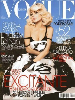 Lindsay Lohan w hiszpańskim Vogue (FOTO)