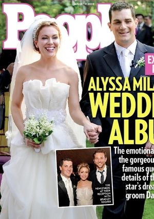 Zdjęcie ze ślubu Alyssy Milano (FOTO)