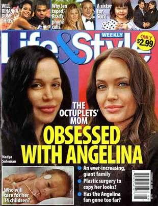 Nadya Suleman chce być drugą Angeliną Jolie