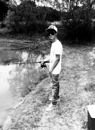 Justin Bieber na rybach