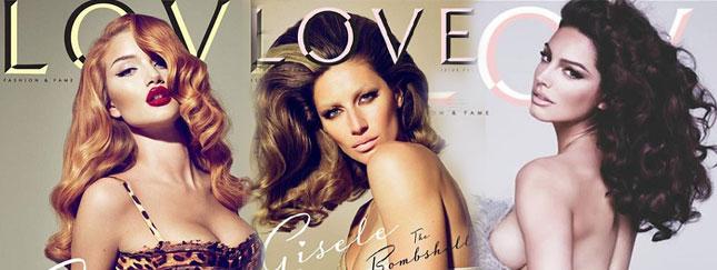 Pięć okładek magazynu Love - Brook rozebrana (FOTO)