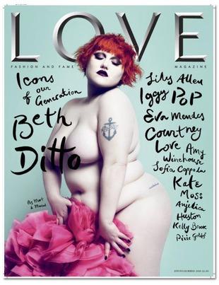 Naga Beth Ditto na okładce magazynu Love (FOTO)