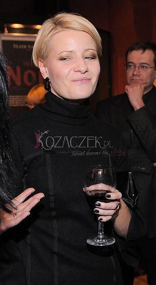 Cała czarna Małgorzata Kożuchowska (FOTO)