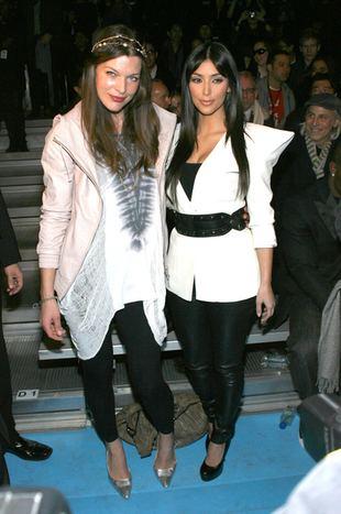 Rozbawione Kim Kardashian i Milla Jovovich (FOTO)