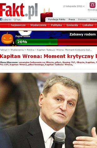 Kapitan Tadeusz Wrona: Jestem zmęczony (FOTO)