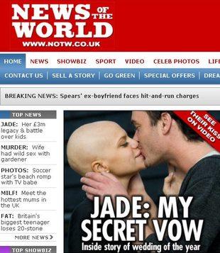 Jade Goody umiera na raka szyjki macicy przed kamerami