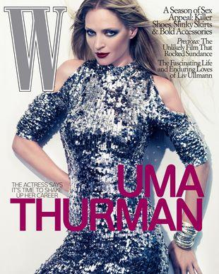 Uma Thurman na okładce magazynu W (FOTO)