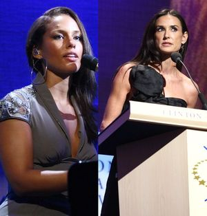 Alicia Keys i Demi Moore udzielają się charytatywnie (FOTO)
