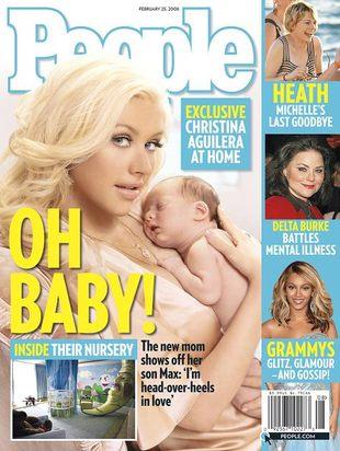 Christina Aguilera z synkiem agituje