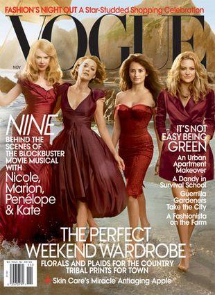 Kidman, Cruz, Cotillard i Hudson na okładce Vogue'a (FOTO)