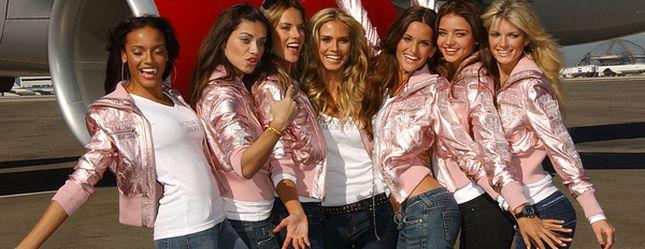 Czarno-czerwono-białe aniołki Victoria's Secret