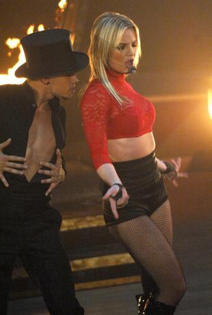 Opadający gorset Britney Spears