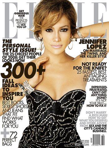 Jennifer Lopez w Elle