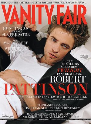 Robert Pattinson w grudniowym Vanity Fair (FOTO)