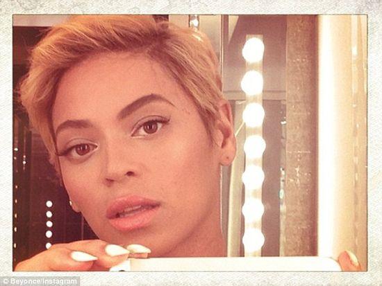 Beyonce w krótkich włosach