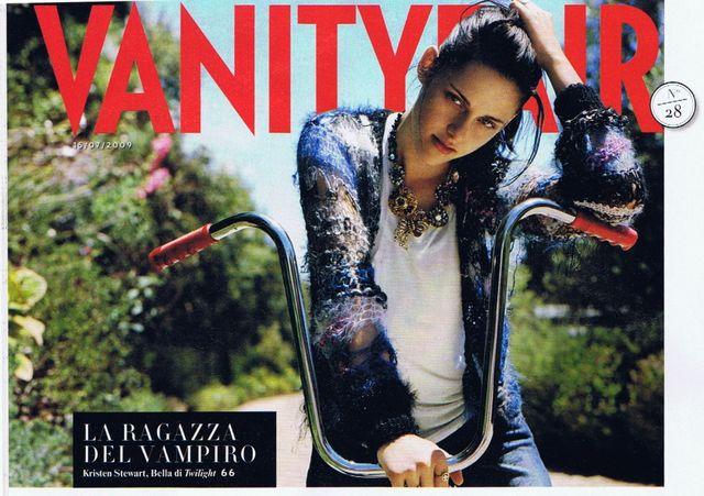 Piękna Kristen Stewart we włoskim Vanity Fair (FOTO)
