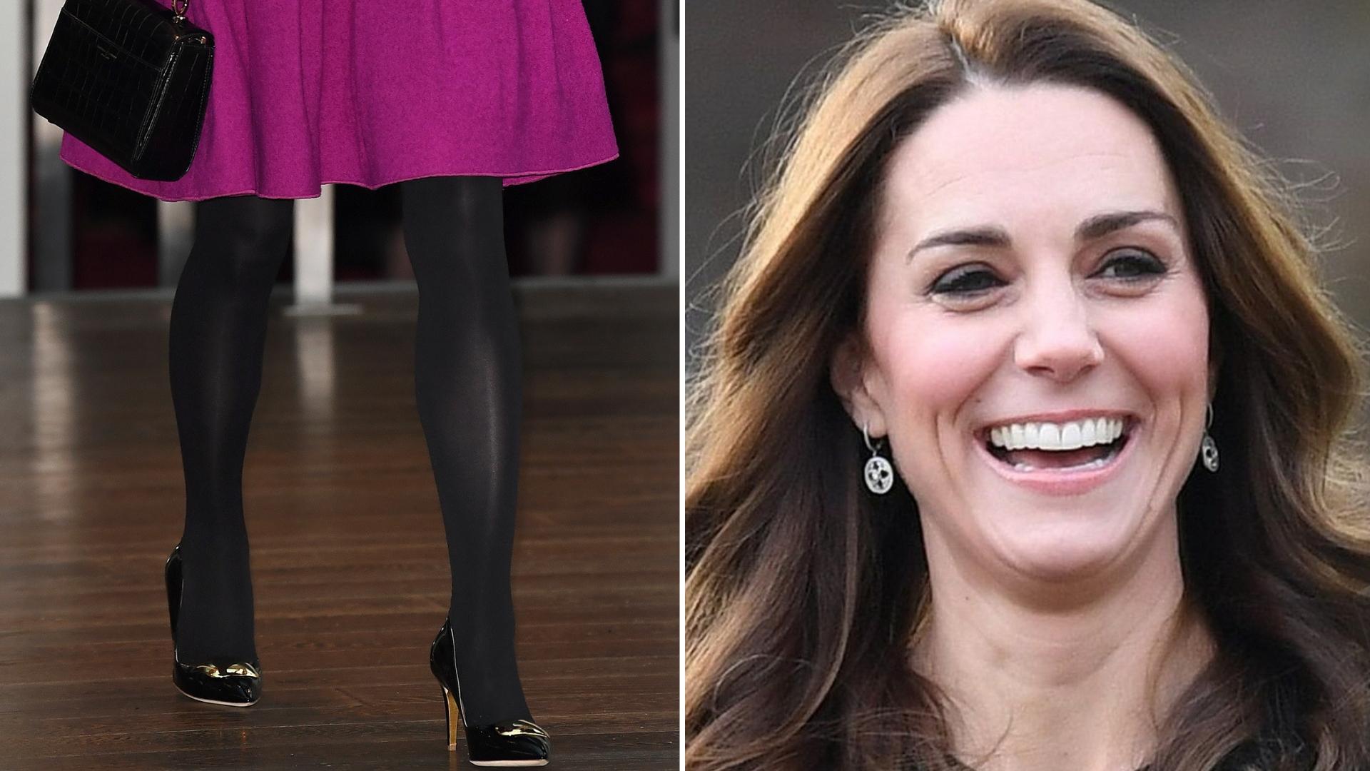 Kate Middleton w dziewczęcej sukience w kolorze fuksji. Zastosowała kobiecy trik