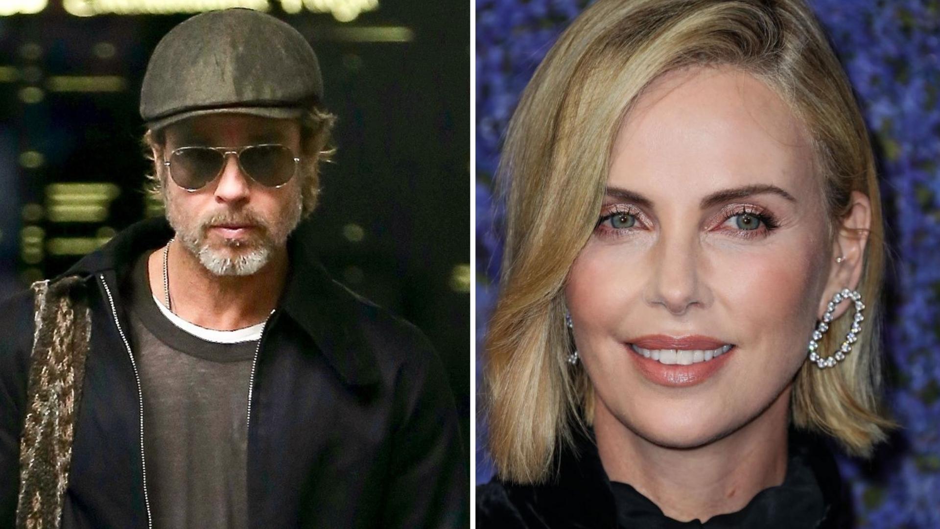 Wspólne zdjęcie Brada Pitta i Charlize Theron jest w sieci! Fani są zachwyceni