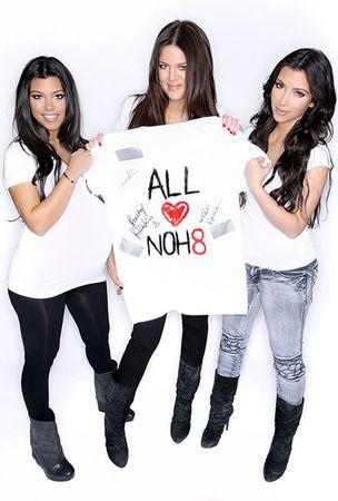 Siostry Kardashian wspierają małżeństwa homoseksualistów