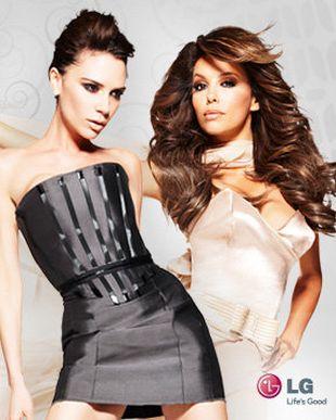 Victoria Beckham i Eva Longoria w reklamie LG (VIDEO)
