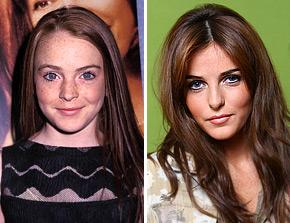 13-letnia Lindsay Lohan i jej siostra Ali