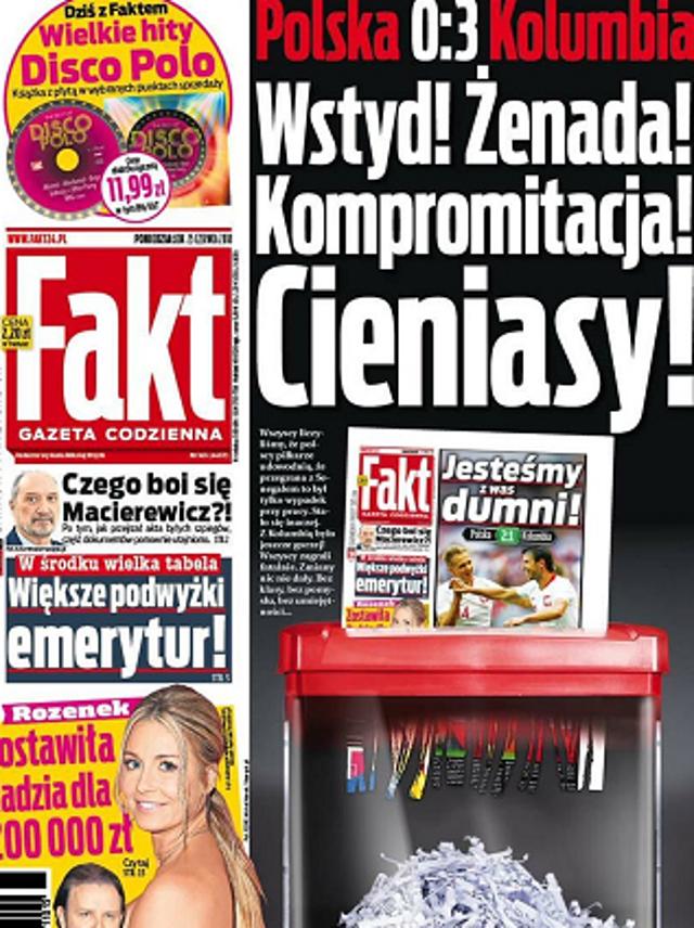 ŻENADA! CIENIASY! DZIADY! - nagłówki gazet po przegranym meczu SZOKUJĄ!