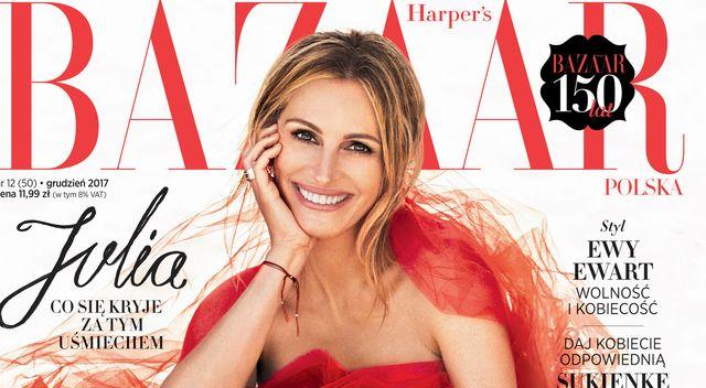 Julia Roberts na okładce Harper's Bazaar