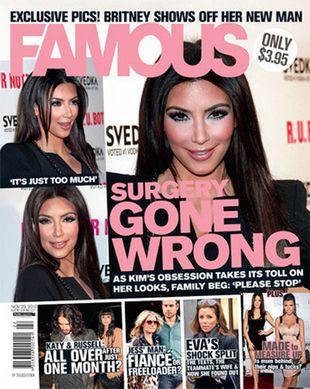 Co się stało z twarzą Kim Kardashian ? (FOTO)