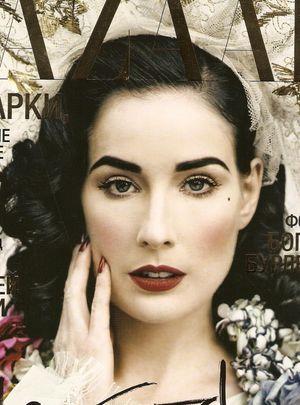 Dita Von Teese w rosyjskim Harper's Bazaar (FOTO)