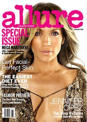 Jennifer Lopez jako ozdoba okładki magazynu Allure (FOTO)
