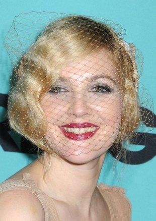 Drew Barrymore założyła woalkę (FOTO)