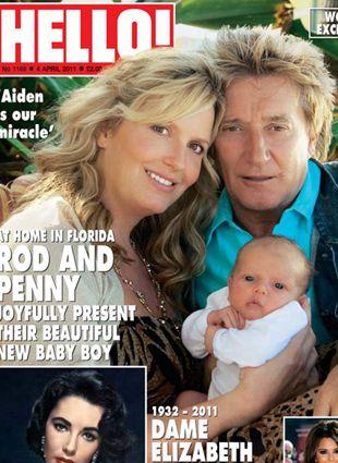 Rod Stewart z żoną i nowo narodzonym synkiem