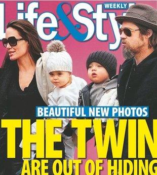 Jolie i Pitt zabrali bliźnięta na lody (FOTO)
