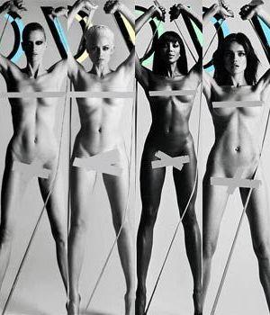 Nagie modelki dla magazynu Love (FOTO)