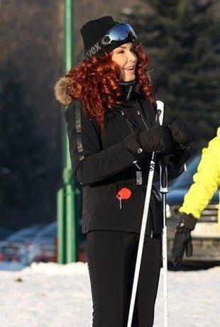 Ewa Minge szusuje na nartach (FOTO)