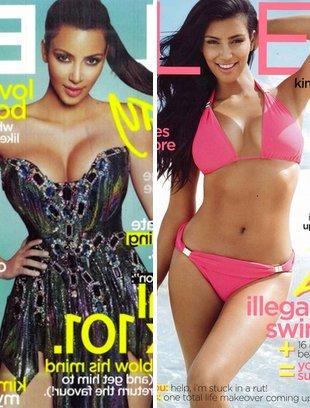 Dwie twarze Kim Kardashian (FOTO)