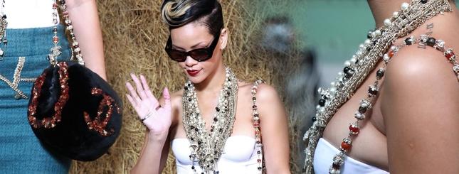 Rihanna jak sroczka - lgnie do świecidełek (FOTO)