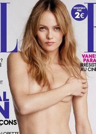 Vanessa Paradis topless dla Elle (FOTO)