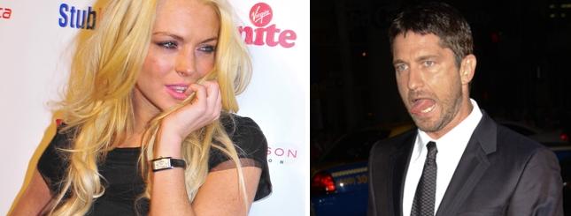 Lindsay Lohan i Gerard Butler - gorące pocałunki w Maroku