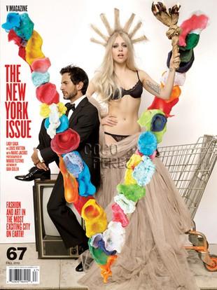 Lady Gaga jako Statua Wolności w magazynie V (FOTO)